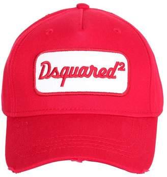 DSQUARED2 Logo Patch Cotton Baseball Hat