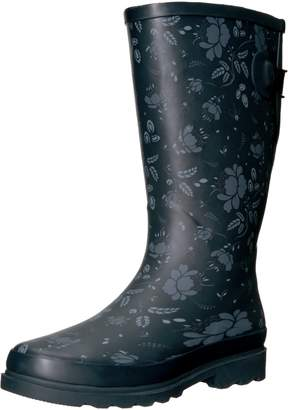 Western Chief Women's Wide Calf Rain Boot, Feminine Floral