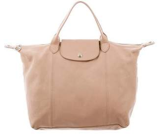 Longchamp Leather Le Pliage Satchel