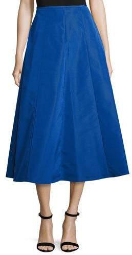 Michael Kors Shirred-Back Flare Midi Skirt, Cobalt