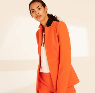 Amanda Wakeley Clementine Fitted Jacket with Stitching Detail