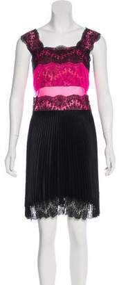 Christopher Kane Pleated Knee-Length Dress w/ Tags