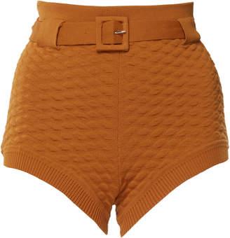 Ellery Pare-Up Pointelle Knit Hot Pants