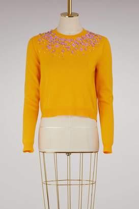 Miu Miu Embroidered cashmere sweater