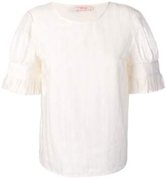Tory Burch pleated sheer blouse