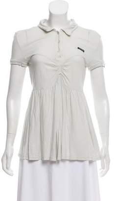 Miu Miu Short Sleeve Jersey Top