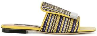 Sergio Rossi striped sr1 sandals