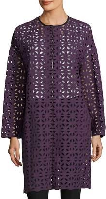 MSGM Women's Cutout Cotton Coat