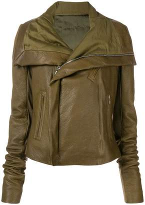 Rick Owens zipped biker jacket