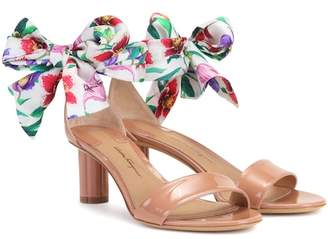 Salvatore Ferragamo Tursi 50 patent leather sandals