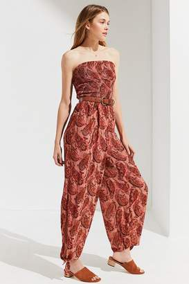 Urban Outfitters Strapless Smocked Jumpsuit