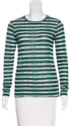 Proenza Schouler Printed Long Sleeve Top