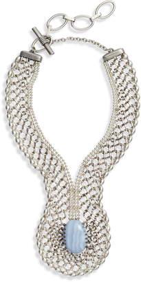Cynthia Desser Blue Lace Agate Statement Necklace