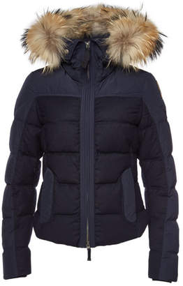 Parajumpers Koko Down Jacket with Virgin Wool and Fur