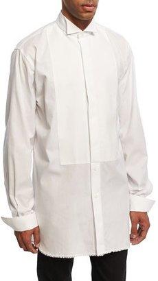 Burberry Macramé-Trim Cotton Tuxedo Shirt, White $575 thestylecure.com