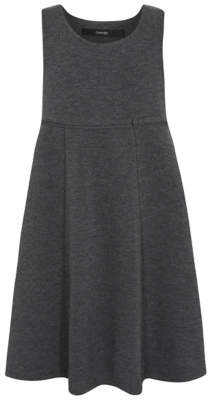 George Girls Grey Jersey Empire Line School Pinafore Dress