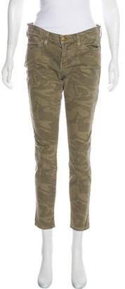Current/Elliott Mid-Rise Camouflage Jeans