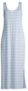 Hanro Women's Laurel Long Tank Gown - Dreamy Blue - Size XS