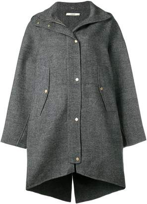 Odeeh snap fastening parka coat