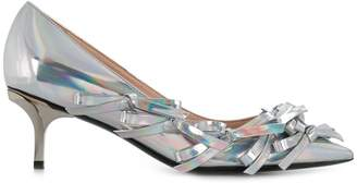 No.21 iridescent multi-bow pumps
