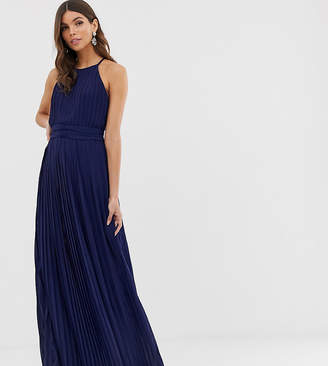TFNC bridesmaid exclusive High Neck Pleated Maxi Dress