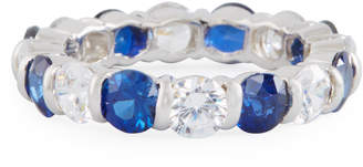 FANTASIA Slim Crystal Eternity Band Ring