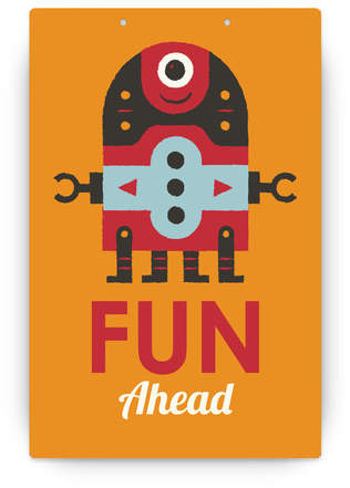 Robot Bleep Bleep Personalizable Party Greeting Signs