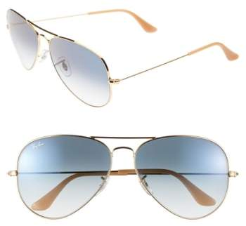 Women's Ray-Ban Large Original 62Mm Aviator Sunglasses - Blue Gradient