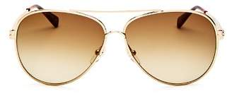 Longchamp Women's Roseau Family Brow Bar Aviator Sunglasses, 55mm