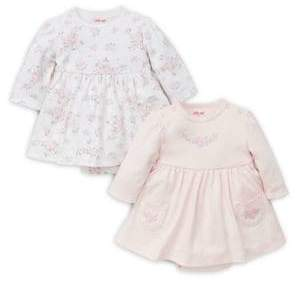 Little Me Baby Girl's Two-Pack Rose Print Cotton Dresses