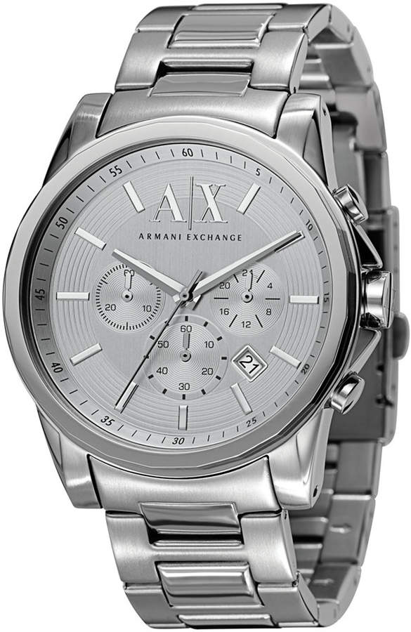  A X Armani Exchange Watch, Men's Chronograph Stainless Steel Bracelet 45mm AX2058