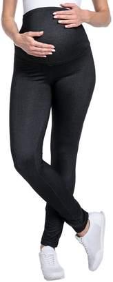 Happy Mama Boutique Happy Mama. Womens Maternity Denim Look Leggings Overbump Waistband Pants. 948p (