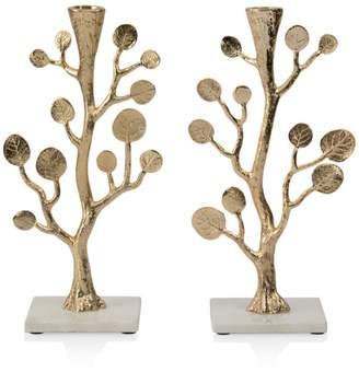 Michael Aram Botanical Leaf Gold Candleholders - 100% Exclusive