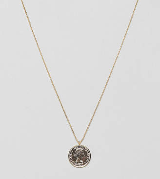 Estella Bartlett gold plated coin necklace
