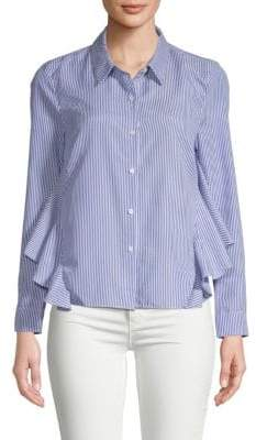 ENGLISH FACTORY Striped Ruffle Shirt