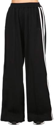 Y-3 Cotton Blend Wide Leg Track Pants