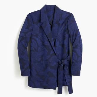 J.Crew Collection tie-close jacquard blazer