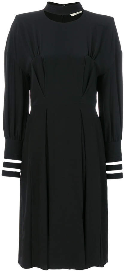 Fendi pleated collar detail dress