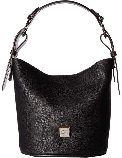 Dooney & Bourke Becket Henley Feedbag Handbags - BLACK/TMORO TRIM - STYLE