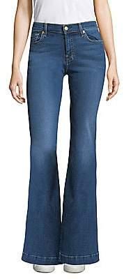 7 For All Mankind Women's Dojo Faded Flared Jeans