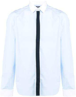Kenzo contrast-placket fitted shirt