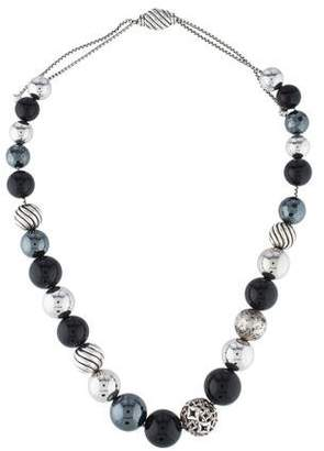 David Yurman Onyx & Hematine DY Elements Necklace