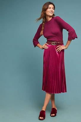 44b968c071 at Anthropologie · Maeve Pleated Velvet Skirt