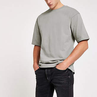 River Island Only and Sons grey short sleeve sweatshirt