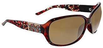 Vera Bradley Women's Ginnie Polarized Wrap Sunglasses