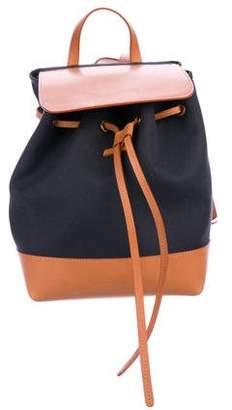 Mansur Gavriel Leather-Trimmed Canvas Backpack