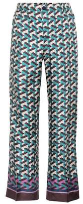 F.R.S For Restless Sleepers Etere printed silk trousers