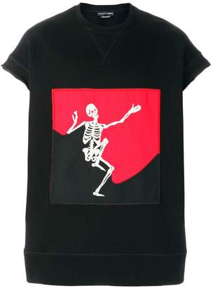 Alexander McQueen dancing skull sweat top