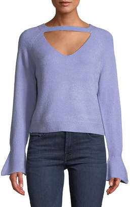 Few Moda Choker-Neck Bell-Cuff Sweater