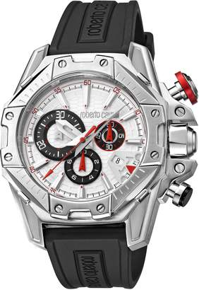 Roberto Cavalli by Franck Muller Viper Chronograph 44mm Rubber Strap Watch